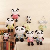 Multicolour plush panda doll stuffed toys gift