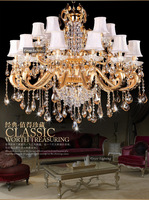 Free Shipping Modern Luxury Large Metal Crystal Chandeliers Hanging Lamp / Light / Lighting Fittings (Model:CC-N094-12+6)