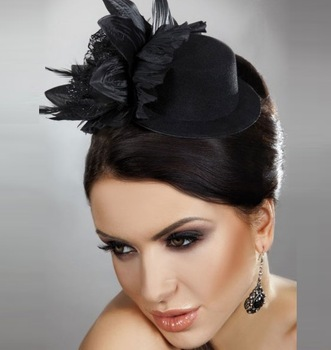 New 2013 Royal Fashion Veil Fascinator Feather Flowers Mini Cocktail Hats Birdcage Visor Bridal Hair Accessories Women WIGO0150