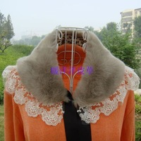 Faux collar laciness lace false collar faux fur wool scarf cape muffler scarf 5829