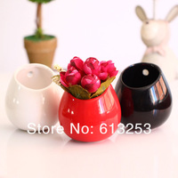 Modern Fashion Ceramic Flower Vase. Household Decorative Newness Flower Pot. Three Colors.  Wholesale  ID:A0109995