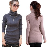 2013 New Sale Long Sleeve Choker Cardigan Women Thicken Cony Hair Casual Women's Sweater