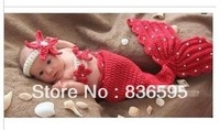 lovely cute baby kids girl boy boys girls children handmade crochet mermaid Photography hat hats cap caps costume for baby