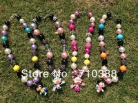 Baby Jewelry 1set/4pcs DORA and BOOTS chunky lovely pandent statement necklace wholesale 2013 hot selling