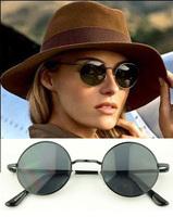 Lady gaga metal round box vintage sunglasses glasses 025 7