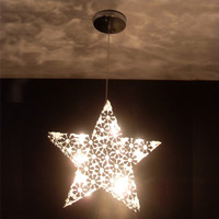 Bedroom lamp modern brief five-pointed star pendant light pendant light restaurant lamp