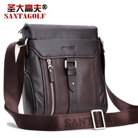 Discover 2013 gough cowhide shoulder bag genuine leather casual fashion male messenger bag messenger bag
