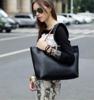 DHL Free Shipping Black Leather Fashion Luxury Lady Ladies Women Woman Shoulder Handbag Bag 100pcs/lot