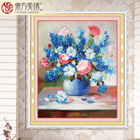 Free shipping New flower ribbon embroidery stitch new living room living room paintings flowers 3D printing