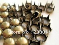DIY middle-sized 200PCs Antique Bronze Round Dome Spike Rivet Studs Spots 7mm,rivets bag clothes shoes punk material accessories
