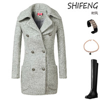 Women's Korean Stylish Coat / Winter 2013 New Europe's alpaca wool, smoke long coats