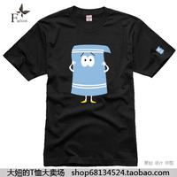 Big t-shirt kenny south park male Women 100% cotton short-sleeve T-shirt 5 plus size