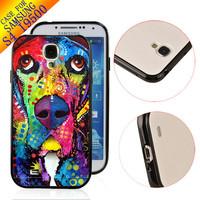 Free Ship TPU+PC Cute Customized Rubber Designer Case hard back cover skin for Samsung Galaxy S4 SIV I9500 basset hound ZC2039