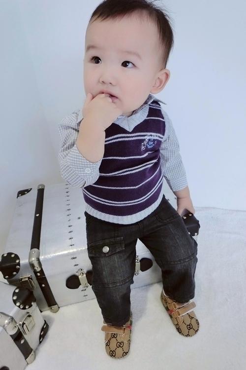 Fannybaby 2013 children's autumn clothing set infant boy vest sweater long-sleeve shirt piece set Cardigan Pullovers(China (Mainland))