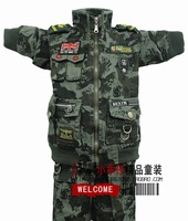 Free shipping new arrive Boys camouflage clothing set child military set long-sleeve 6-9