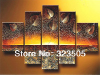 5  piece canvas wall art Modern abstract wall deco  picture oil painting home decoration for  ready to hang bar  free shipping