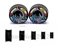 Free shipping double flare saddle ear tunnel plug mix 6-25mm sizes 60pcs/bag wholesale