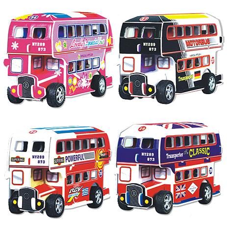 Zlp double layer bus 3d puzzle assembling model toy car original model(China (Mainland))