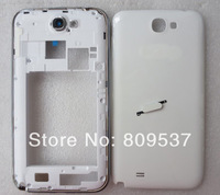 For Samsung Galaxy Note 2 N7100 Houging Rear Housing/ Battery Cover/ Home Button Genuine New White