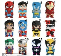 wholesale+Retail 1pcs newest 3D Superman hero Iron Man Silicone Cover Case For iPhone 5 with opp bag free shipping