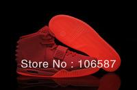 Wholesale Kanye West Yeezy II 2 Glow In Dark Red October Men's Basketball Sport Footwear Trainers Shoes - Red