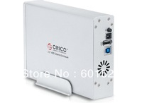 Free shipping ORICO 7618US3 Tool 3.5'' SATA HDD Enclosure , USB 3.0 Hard Drive External Case