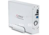 Free shipping ORICO 7618US3 Tool 3.5'' SATA HDD Enclosure , USB 3.0 Hard Drive External Case