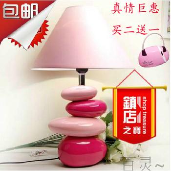 Ceramic cobblestone wedding gift lamps table lamp table lamp bedroom bedside lamp