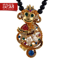 Original design crystal necklace chinese style chinese zodiac pendant female gift birthday gift