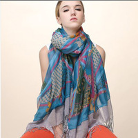 Slient love store 2013 sunscreen tassel  flicker double faced cape scarf ultra long  female