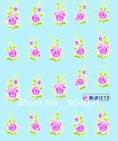 FREESHIPPING 20pcs/lot  Nail Sticker Flower  Series Water decals Nail Tattoo nail accessories For Fingernail Desgin & decoration