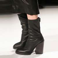 2014 brief elegant thick high-heeled genuine leather boots fashion trend of the boots female all-match