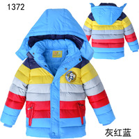 Free shipping 2014 new arrival cotton-padded jacket children winter wadded jacket outerwear childern winter parkas