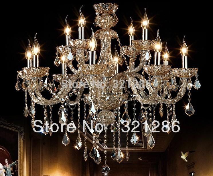 12 köpfe mode-kristall-kronleuchter Wohnzimmer licht Lichter Restaurant lampe beleuchtung kerze kristall lampe 88021