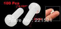 PC Board White Phillips Cross Head Cap Plastic Screws 100 Pcs