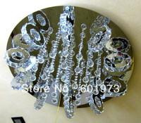 Free shipping 2013 New Design Hot Sell  Modern LED Energy Saving  Flush Mount Crystal Ceiling Lamp for Living Room 9209-36+9