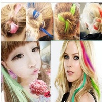 Factory price!FreeShipping Lady/Women/Girls avril  wig piece fashion punk multicolour hair piece/hairpin/hairwear 15 colors M024