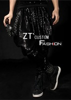 designer 2013 mens costumes Fashion  clothing paillette personalized pants costumes costume  for men