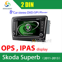 2 Din Car dvd gps For Skoda Superb DVD with GPS AC dual zone IPAS OPS Video display MFD display Bluetooth touch screen car radio