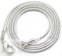 "10PCS 925 Sterling Silver 1mm Snake Chain Necklace Wholesale 24"" inch YXH-001-24 JFXDHRTUTJH"
