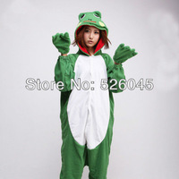 Factory price free shipping 2013 Fleece Frog 2013 Hot Selling Animal Onesies Kigurumi Jumpsuit Pajamas Hoodies Costume Sleepwear