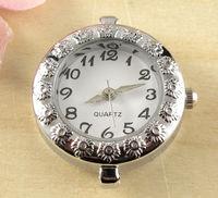 5pcs Hot Fashionable New Arrive Quartz Silver Tone Watch Faces For Beading w02