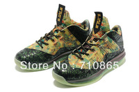 Limited! EMS Free Shipping 2013 LeBron 10 X Championship low mens basketball shoes