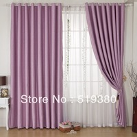 free shipping, high quality blackout curtain,1.4m*2.5m ready made balcony curtain,pink,embossing,custom-made sun-shading cuatain