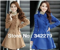 Woolen outerwear 2013 slim medium-long wool coat outerwear female autumn and winter women