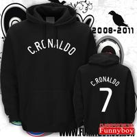 Real madrid hoodie thickening c sweatshirt ronaldo cr7 lovers thermal fleece outerwear