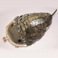 Amliya 2013 Genuine Leather Clip Women's Handbag Personality Strange Fish Bags One Shoulder Cross-body Cowhide Small Bag Female