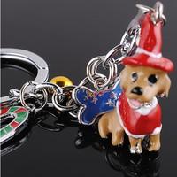Wholesale 12PCS /lots High quality fashion pet Key chain Dogs handbag chain keyring key chain metal keychain- free shipping