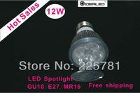 LED Lamp 12W Dimmable/non-dimmable E27 AC90-265V High Power LED Lamp,White LED Bulb Light Spotlight Bombilla LED blanco luz del