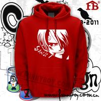 Sweatshirt op strawhat lovers sweatshirt male thickening brushed hoodie outerwear